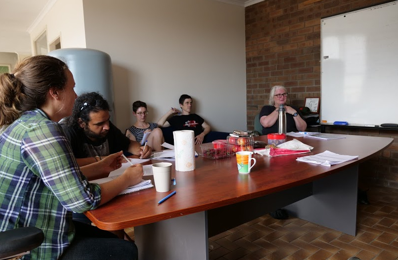 Earthworker organisers develop an outline for a training curriculum